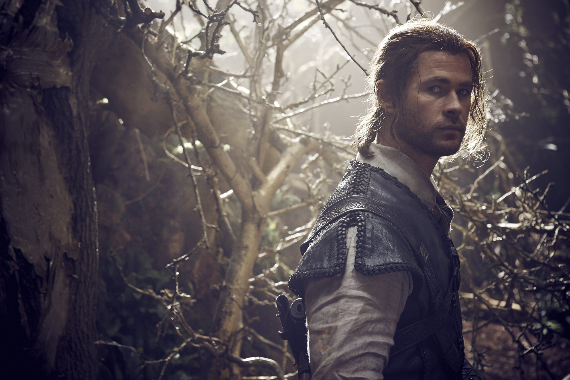 Chris Hemsworth on set of The Huntsman