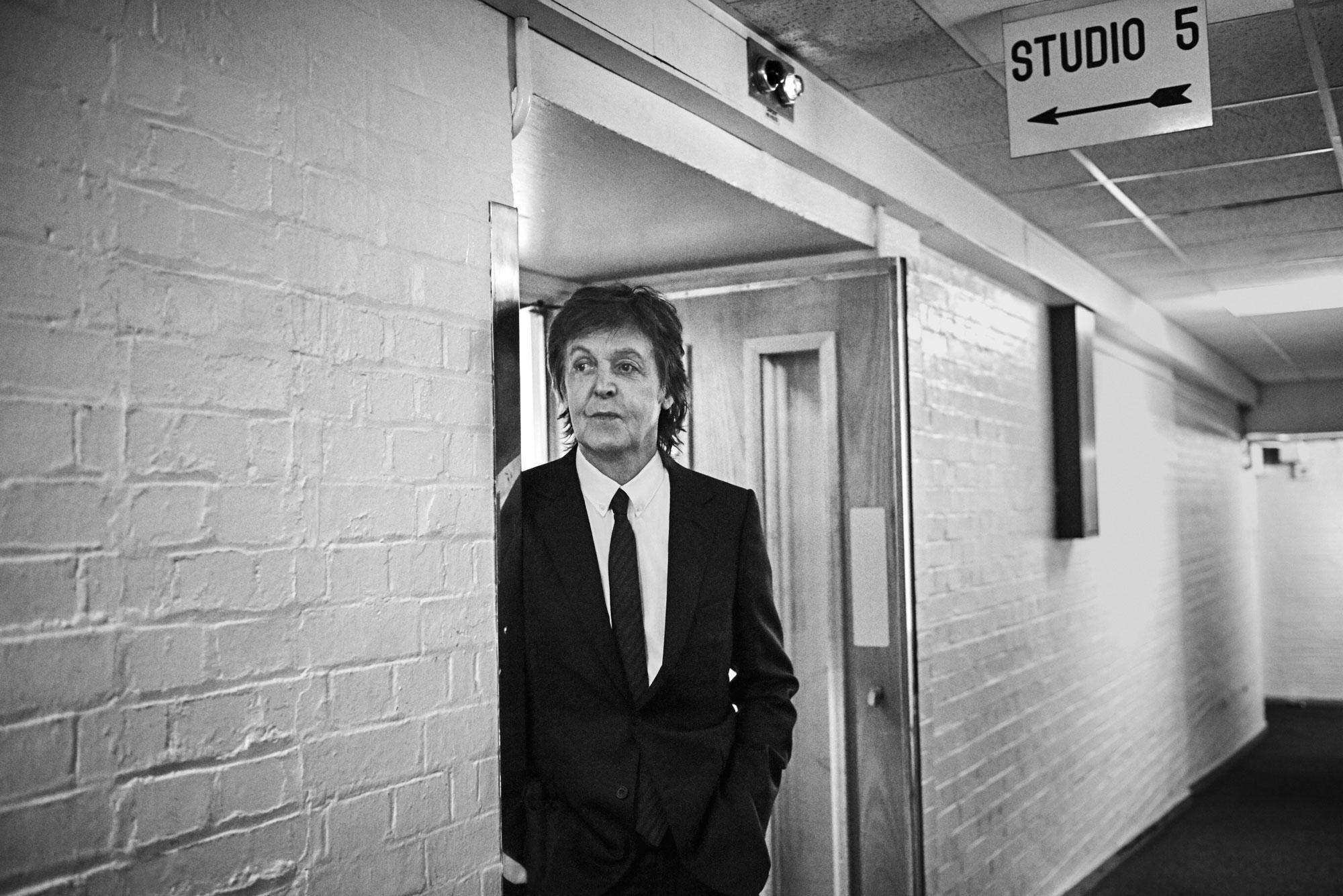 Sir Paul McCartney at BBC Maida Vale Studios