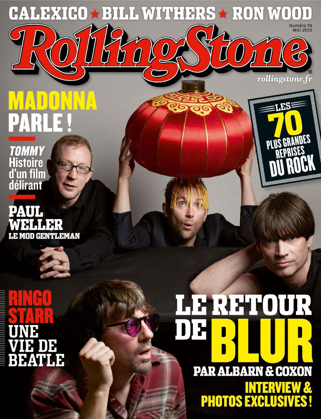 Blur Rolling Stone Magazine cover by Charlie Gray