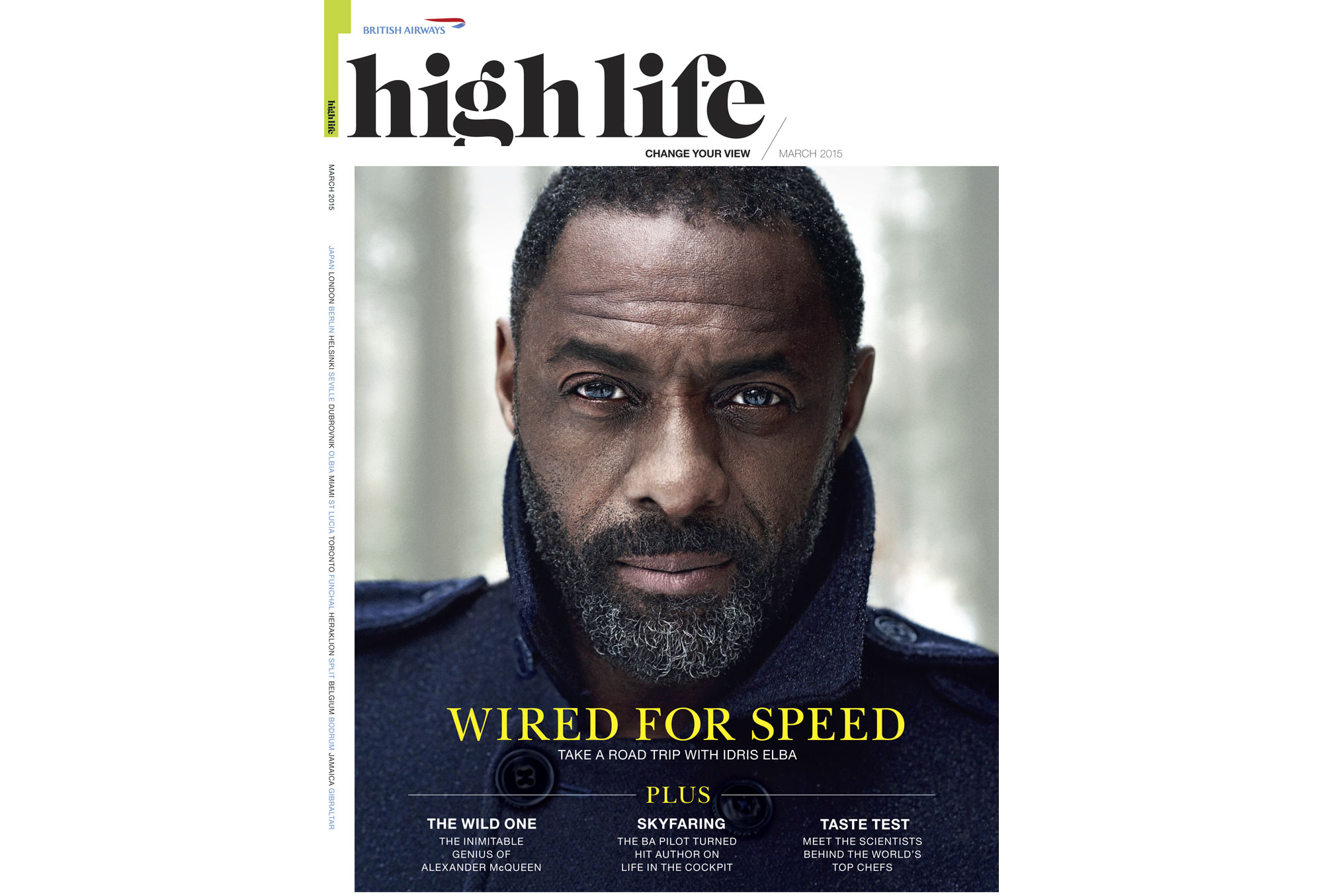 Idris Elba High Life Magazine cover