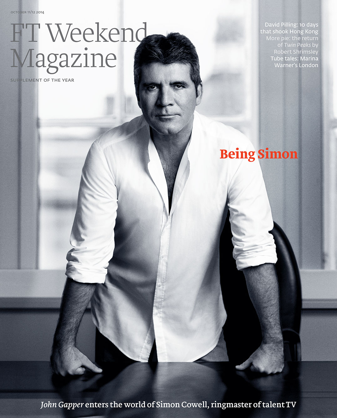 Simon Cowell FT Magazine cover