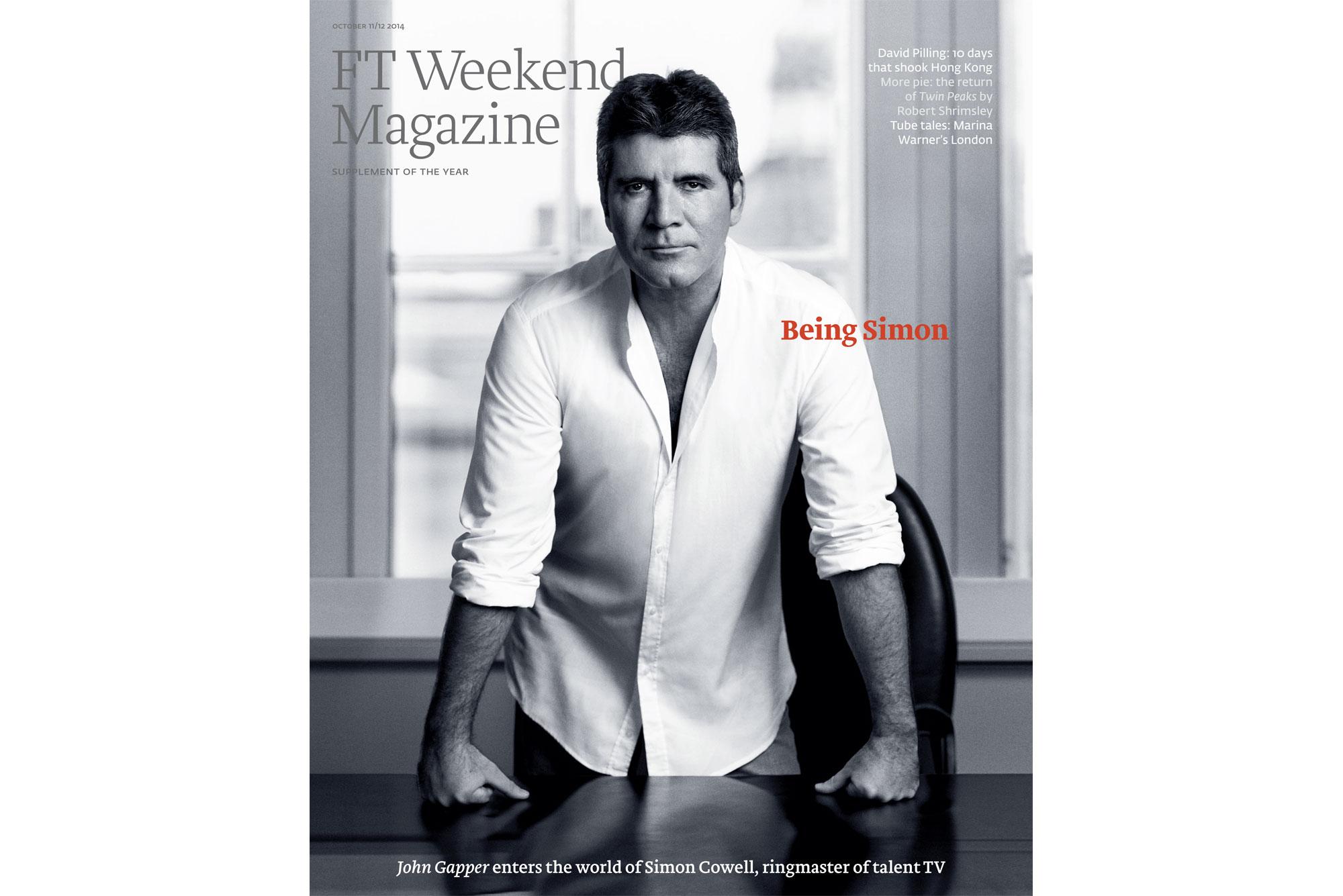Simon Cowell FT Magazine cover